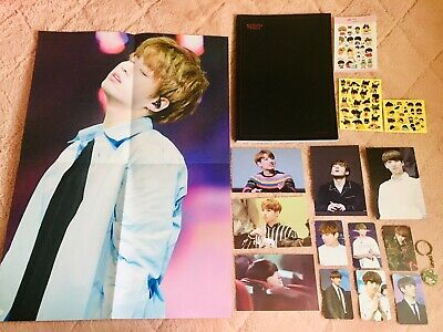 BTS Jungkook fansite fan made 2016 photobook stickers photocard keychain poster