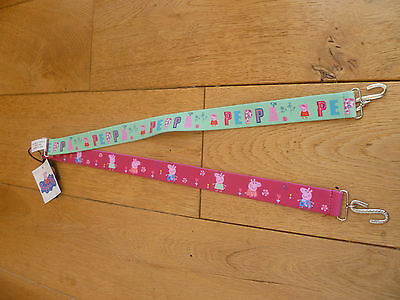 Marks And Spencer 2 Pack Pink Apple Green Peppa Pig Belts 6 8 Years Bnwt