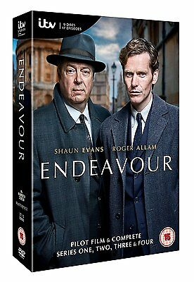 Endeavour Series 1-4 Complete Dvd Box Set New And Sealed Seasons 1 2 3 4
