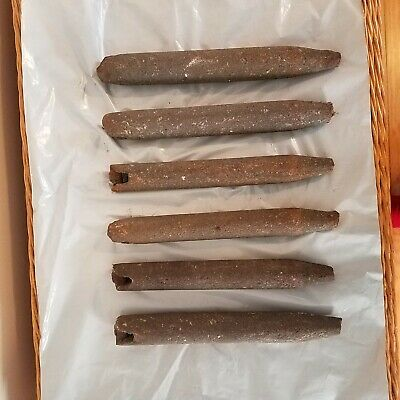 Lot of 6 Vintage 1939 Cast Iron Window Sash Weights with Free Shipping
