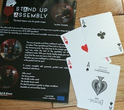 Stand Up Assembly -- Vernet -- visual 4-ace trick for club/parlor shows     TMGS