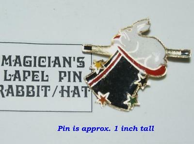 Lapel Pin -- Rabbit Wand and Top Hat  --let 'em know you mean Magic!        TMGS