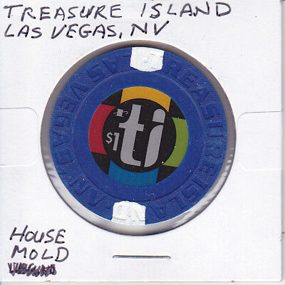 Casino Chip Token $1 Treasure Island - Las Vegas, Nevada - House Mold - Gambling