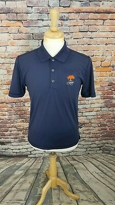 Adidas Puremotion Mens Short Sleeve Navy KIAWAH LOGO Athletic Golf Polo Shirt S
