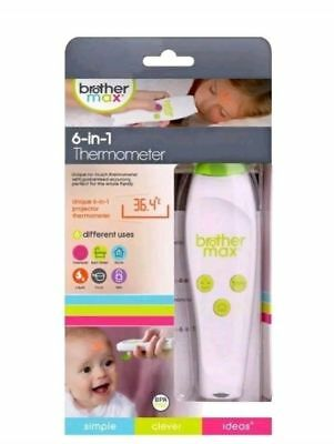 Brother Max 6-in-1 Non Contact Baby Toddler Thermometer- - BRAND NEW