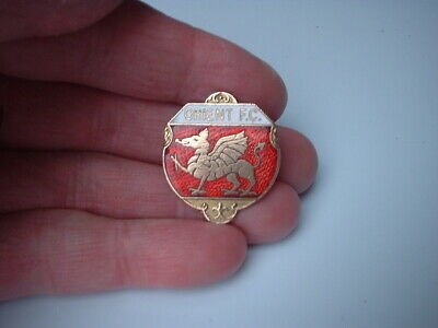 vintage Leyton Orient  FC enamel  badge football club pin  classic old
