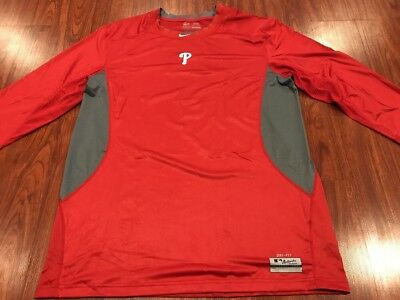 aaa559290 Nike Men s Philadelphia Phillies Pro Combat Training Jersey Shirt 3XL XXXL  MLB