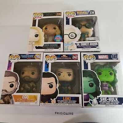 Lot Of 5  Funko POP Marvel (She Hulk and Ego and more) Bobble Heads