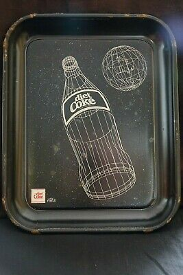 1985 Coca Cola Canadian LE Diet Coke Tray Bottle of Diet Coke and World Good