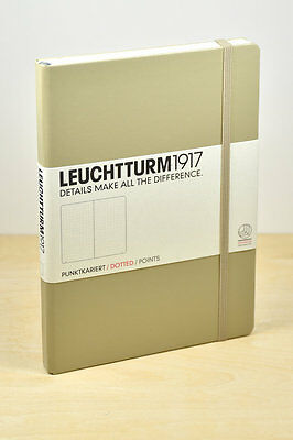 Leuchtturm1917 Medium A5 Dotted Dot Grid Hardcover Sand Journal Notebook