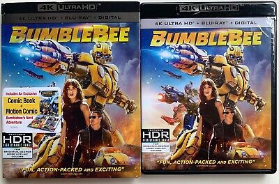 Bumblebee 4K Ultra Hd Blu Ray 2 Disc Set + Slipcover Sleeve Transformers + Comic