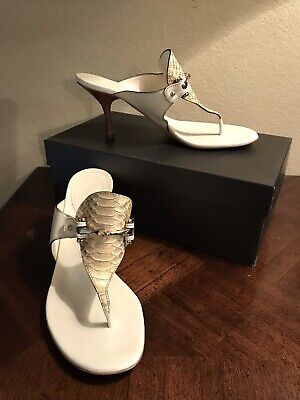 3e9c0440cae Gucci Ivory   Cream Horsebit Sandals Size 7 Slides Mules Pumps Alligator  Trim