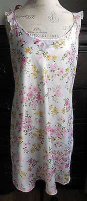 Nwot White With Pink Yellow Floral Design Secret Treasures Women's Nightgown 1Xl