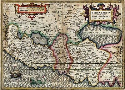 A4 Reprint of Old Maps Very Old Map Of The World Possibly from the 1600s