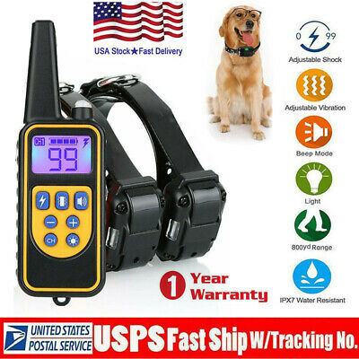 875 Yard 1/2/3 Dog Shock Pet Training Collar Remote Control Waterproof Electric
