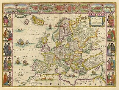A4 Reprint of Old Maps Old Map Of Various Parts Of The World Reprint 3