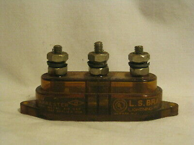 vintage L.S. Brach Mfg. Corp. VIS-O-GLOW Radio Lighting Arrester rare gas tube