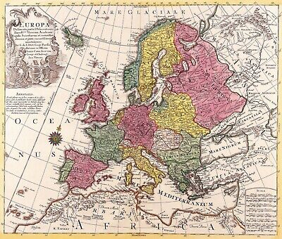A4 Reprint of Old Maps European Great Britain