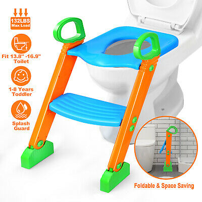 Baby Toddler Potty Training Step Trainer Kids Toilet Seat Ladder Safety US Stock