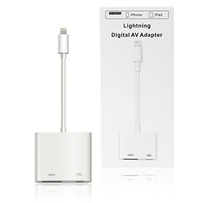 For Apple iPhone 6S XR XS Max Plus Lightning To HDMI Digital AV TV Cable Adapter