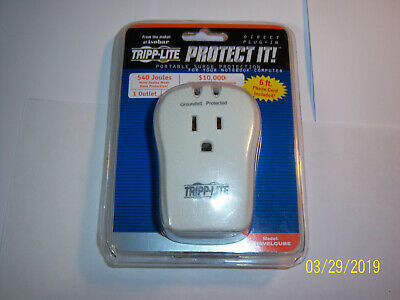 f887436ddbc1 BRAND NEW TRIPP LITE TRAVELCUBE Surge Protection for Notebook.Direct ...