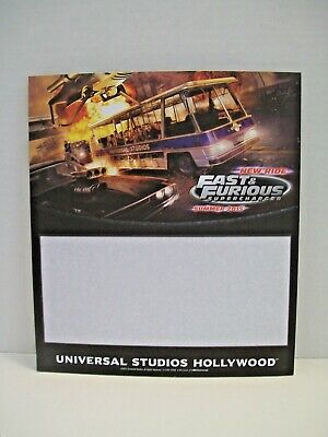 UNIVERSAL STUDIOS FAST & FURIOUS  Collectible Paper Pad Promo Piece