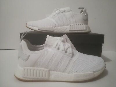 Adidas D96635 Nmd R1 Men Running Shoes Sneakers White Hit