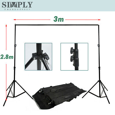 2.8x3m Photography Background Stand Backdrop Support System Light Tripod Studio