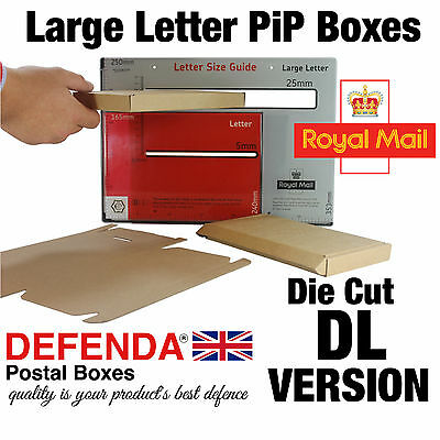 0427 DL SIZE Royal Mail Large Letter PIP POSTAL BOXES Strong Cardboard Mailers