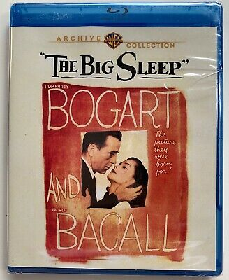 New The Big Sleep Blu Ray Warner Archive Collection Free World Wide Shipping