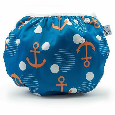 LARGE Nageuret Reusable Swim Diaper, Adjustable & Stylish Fits Diapers Sizes 4-7