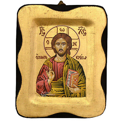 Greek Orthodox Icon Byzantine Icon Handpainted Icon Tempera Jesus Christ