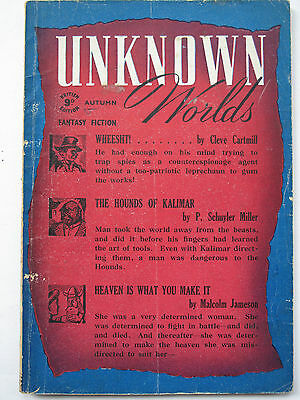 British Fantasy Pulp - UNKNOWN WORLDS Autumn 1944 – Fredric Brown