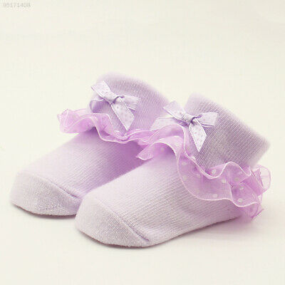 682D Baby Lace Sock Baby Bow Socks LH Gift Toddlers Bowknot Soft Cute Washable