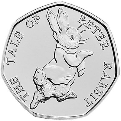 British Beatrix Potter 50p Coin - From sealed bag - The Tale of Peter Rabbit