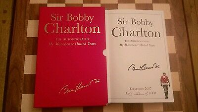 Bobby Charlton SIGNED Autobiography My Manchester United Years Limited Edition