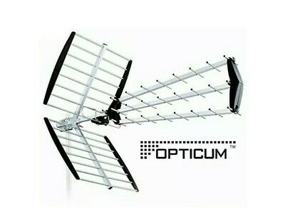 & Opticum Ax 1000 Dvb-T outside Aerial Terrestrial Dvbt Outdoor Antenna DAB 71:9
