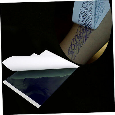 100pcs A4 Tattoo Thermal Stencil Transfer Carbon Paper ZY003 White + Green LP