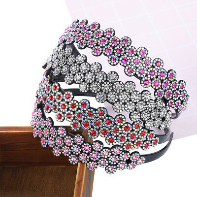 Rhinestone hairband For Women Girl Hair Accessories Wide Hair Hoop Band Headband