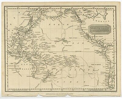Pacific Ocean on Mercator's Projection - Findley (1824)