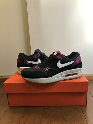 Details about Nike Air Max 1 Print Midnight Navy Aloha Women's Sz 8.5 528898 401 White Floral