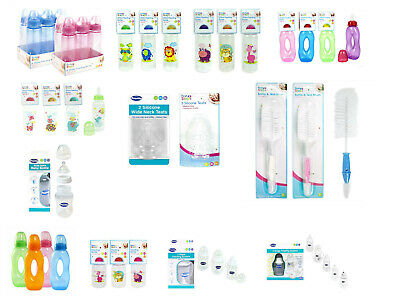 First Steps Baby Feeding Bottles Silicon Teats BPA Free/Safety Tested 150-250ml