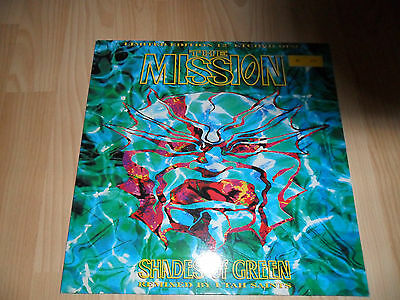 """THE Mission shades of green 12"""" Single etched vinyl, Children and wastland"""