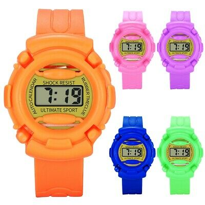 Boys Girls Kids LED Digital Wristwatch Alarm Date Student Children Sport Watches