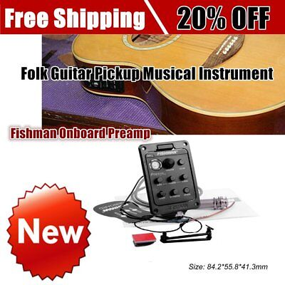 Fishman Onboard Preamp Folk Guitar Pickup Musical Instrument Accessory btS