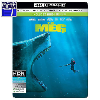 The Meg 4K + 3D + 2D Steelbook (Region Free)