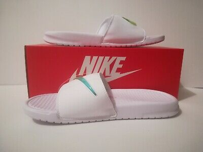 buy online e833d a1361 Nike Benassi JDI SE White Jade Volt Sliders Sizes UK 7   10 AJ6745