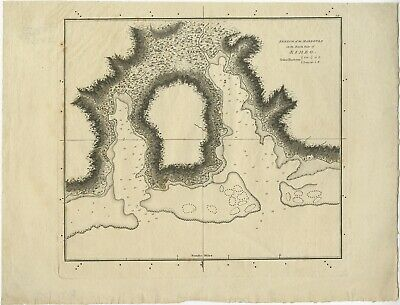Sketch of the Harbours on the North Side (..) - Cook (1784)