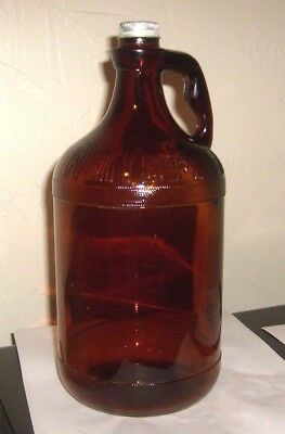 Vintage WHITE MAGIC Embossed Amber Duraglas Glass Bleach JUG 1934