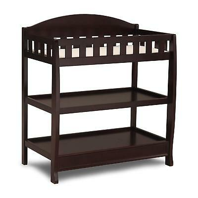 Delta Children Infant Changing Table with Pad, Dark Chocolate / 2 day shipping